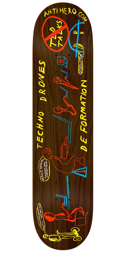 Anti-Hero Grant Taylor TechnoDrone Skateboard Deck - Brown - 8.62in x 32.56in