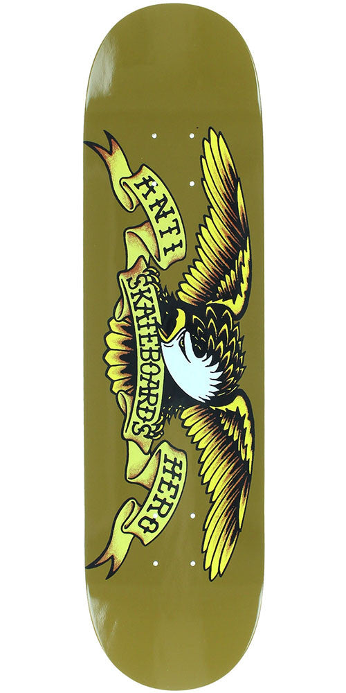Anti-Hero Classic Eagle Skateboard Deck - Brown - 8.06in x 31.8in