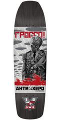 Anti-Hero Jeff Grosso Propaganda Skateboard Deck - Black - 9.25in x 33in