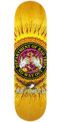 Anti-Hero Beres State of Mind Skateboard Deck - Gold - 8.4in x 32in