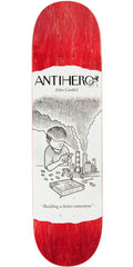 Anti-Hero Cardiel Science Achievement Skateboard Deck - Red - 8.25in x 32.0in