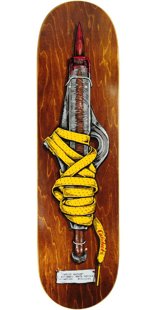 Anti-Hero Cardiel Shanks Skateboard Deck - Brown - 8.4in x 32.0in