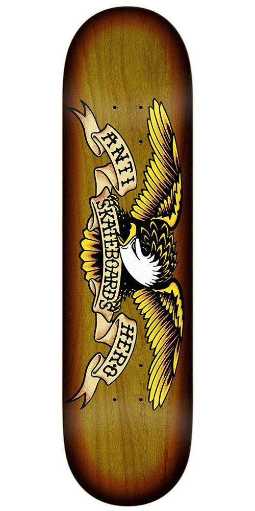 Anti-Hero Sunburst Eagle Skateboard Deck - Brown - 8.25in x 32.0in