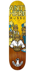 Anti-Hero Russo Where Now Skateboard Deck - Yellow/Brown - 8.06in x 31.8in