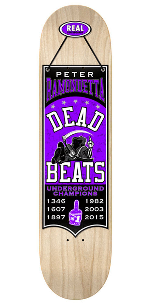Real Ramondetta Champions Skateboard Deck - Natural Assorted/Purple - 8.38in x 32.56in