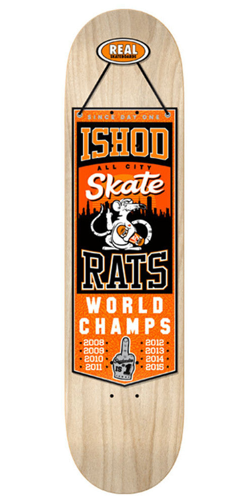 Real Ishod Champions Skateboard Deck - Natural Assorted/Orange - 8.25in x 32.0in