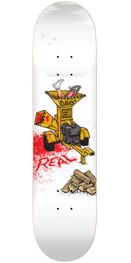 Real Torgeson Chipper Skateboard Deck - White - 8.06in x 32.0in