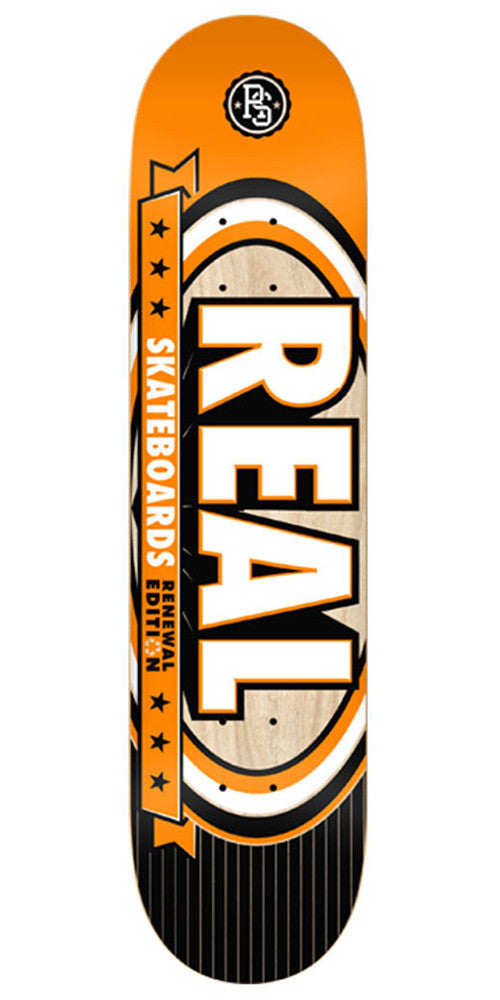 Real Renewal Select Medium Skateboard Deck - Orange - 7.75in x 31.4in