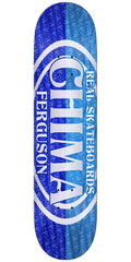 Real Chima Ferguson Premium Oval Skateboard Deck - Lt. Blue/Blue - 8.38in x 32.43in