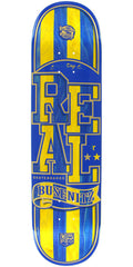 Real Dennis Busenitz Spliced Low Pro II Skateboard Deck - Yellow/Blue - 8.38in x 32.43in