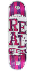 Real Chima Ferguson Spliced Low Pro II Skateboard Deck - Purple/Pink - 8.4in x 32in
