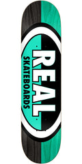 Real 50/50 Oval Skateboard Deck - Grey/Blue - 8.12in x 32in