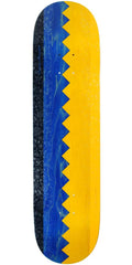 Real Busenitz Zip Up Full Shape Skateboard Deck - Blue/Yellow - 8.06in x 31.91in