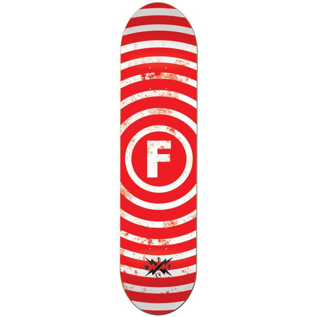 Foundation Vertigo Skateboard Deck 8.0 - Red/White