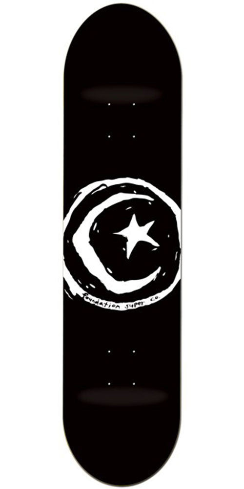 Foundation Star & Moon Skateboard Deck - Black - 8.0in