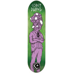 Foundation Duffel Man Beast Skateboard Deck - Green/Purple - 8.375in