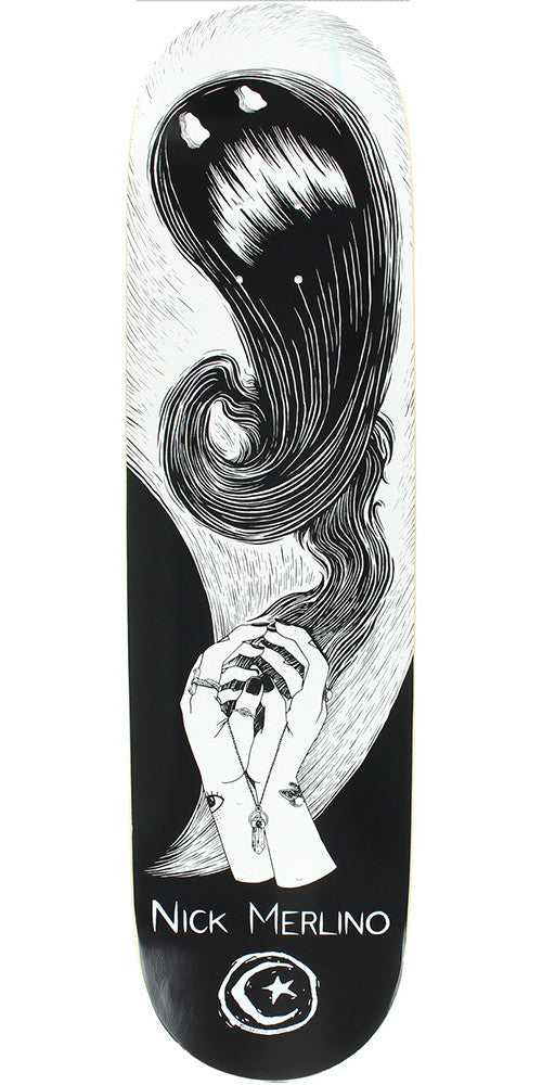 Foundation Nick Merlino Shadow Puppet Skateboard Deck - Black/White - 8.125in x 31.875in