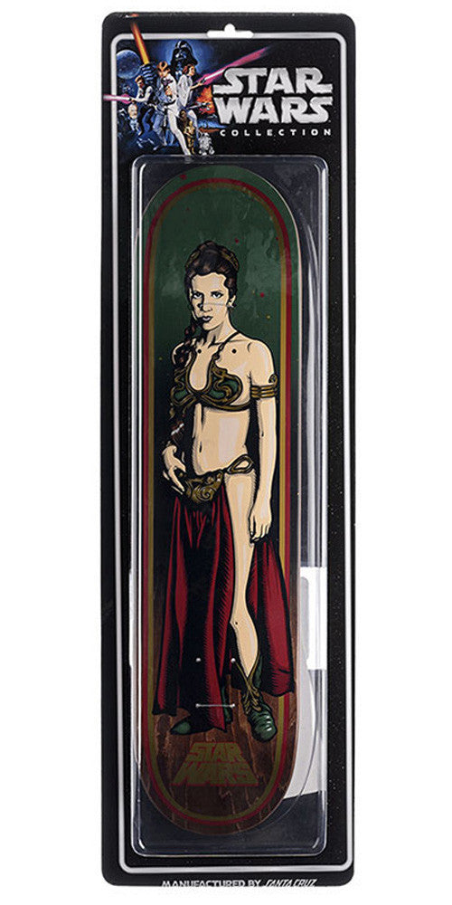 Santa Cruz Star Wars Slave Leia Collectible Skateboard Deck 7.8 x 31.7 - Green/Red/Brown
