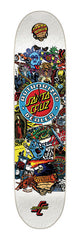 Santa Cruz Authorized Dealer Skateboard Deck Clock - White/Multi
