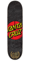 Santa Cruz 40th Anniversary Dot Skateboard Deck Clock - Black