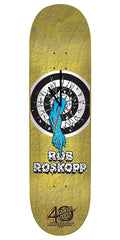 Santa Cruz 40th Anniversary Rob Roskopp Skateboard Deck Clock - Yellow