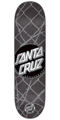 Santa Cruz Barbed Wire Dot Powerply Skateboard Deck - Grey - 32.2in x 8.5in