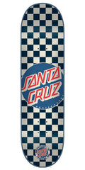 Santa Cruz Check Dot Skateboard Deck 7.9 x 31.7 - White/Blue
