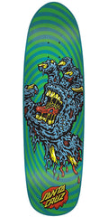 Santa Cruz Decay Hand Skateboard Deck - Blue/Green - 8.375in x 31.475in