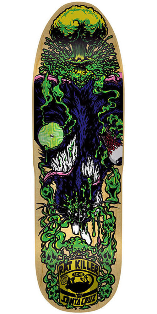 Santa Cruz Rats Must Die Skateboard Deck - Natural - 8.625in x 32.0in