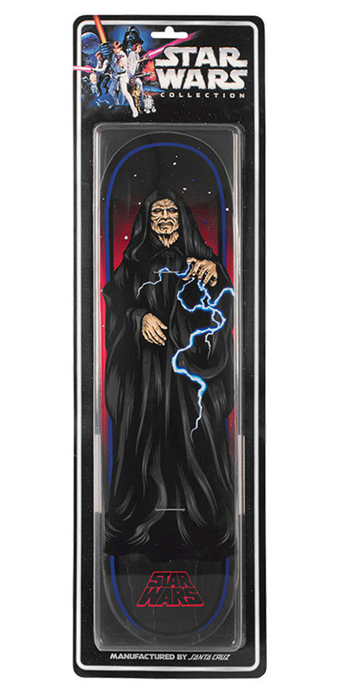 Santa Cruz Star Wars The Emperor Collectible Skateboard Deck - Black - 32.0in x 8.375in