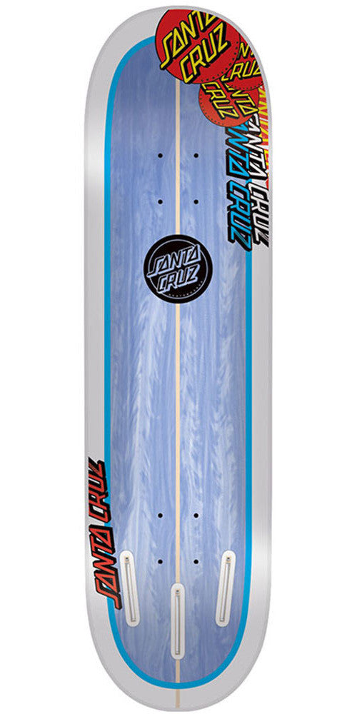 Santa Cruz Landshark Popsicle Skateboard Deck - White/Blue - 31.6in x 8.0in