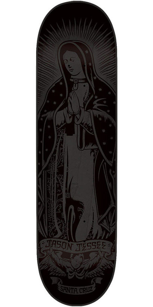 Santa Cruz Jessee Guadalupe Eight Five Skateboard Deck - Black - 32.2in x 8.5in