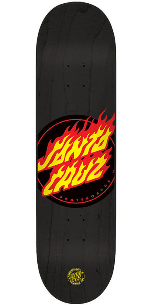 Santa Cruz Flame Dot Skateboard Deck - Black - 32.3in x 8.6in