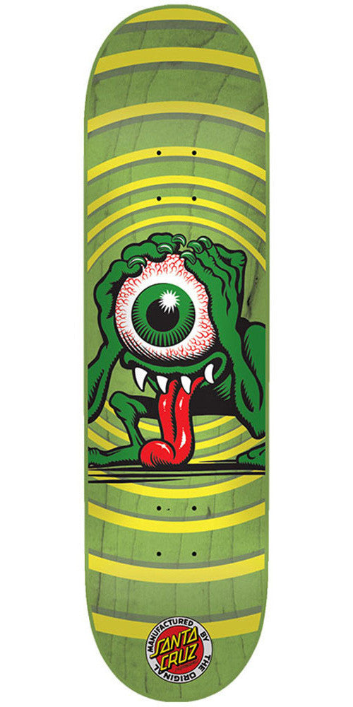 Santa Cruz Eyegore Micro Skateboard Deck - Green - 28.5in x 6.75in