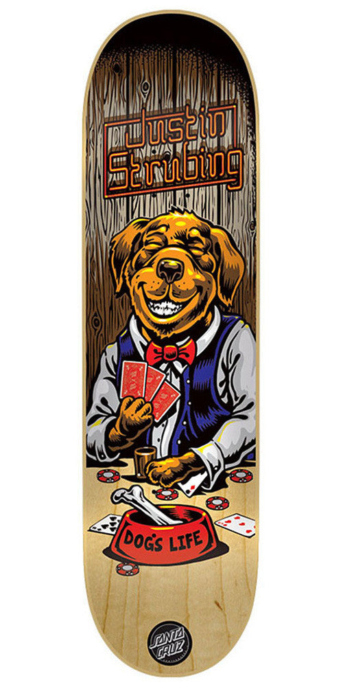 Santa Cruz Strubing Poker Dog Skateboard Deck - Multi - 32.2in x 8.3in