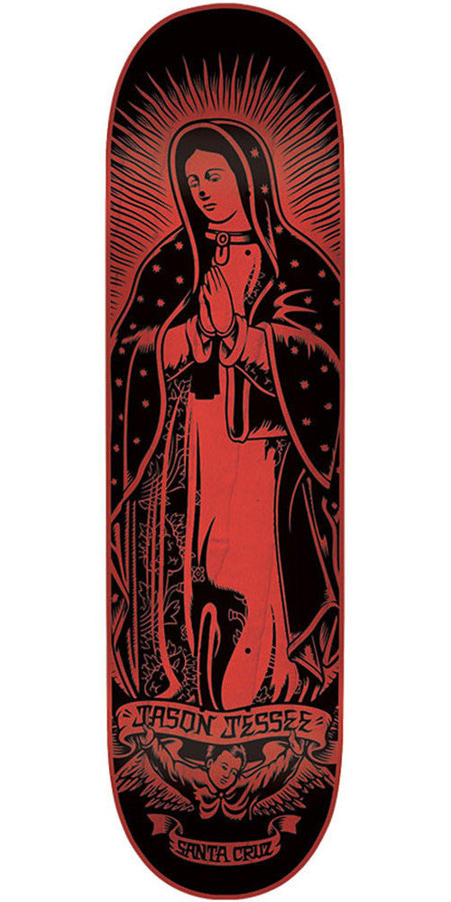 Santa Cruz Jessee Guadalupe Eight Five Skateboard Deck - Red - 32.2in x 8.5in