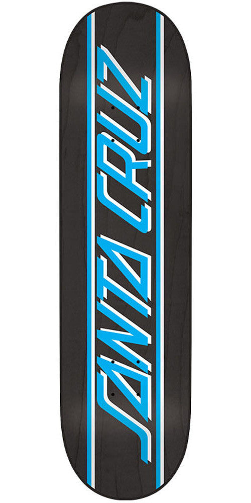 Santa Cruz Classic Strip Skateboard Deck - Black/Blue - 32.0in x 8.375in