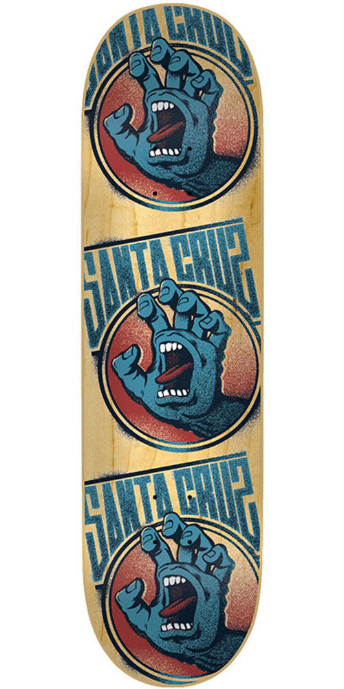 Santa Cruz Screaming Tag Skateboard Deck - Natural - 31.8in x 8.25in