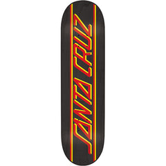 Santa Cruz Classic Strip Skateboard Deck - Black - 31.6in x 8.0in