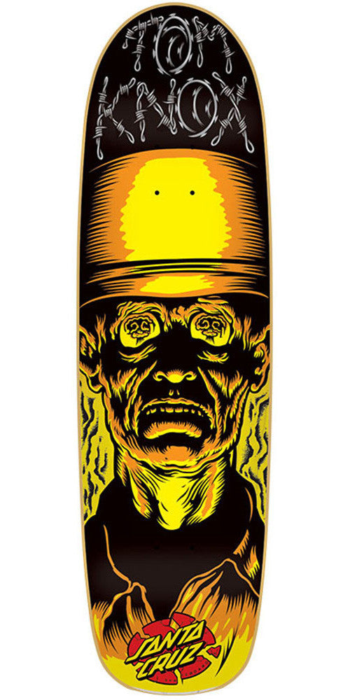 Santa Cruz Knox Armageddon Skateboard Deck - Black/Yellow - 32.5in x 9.0in