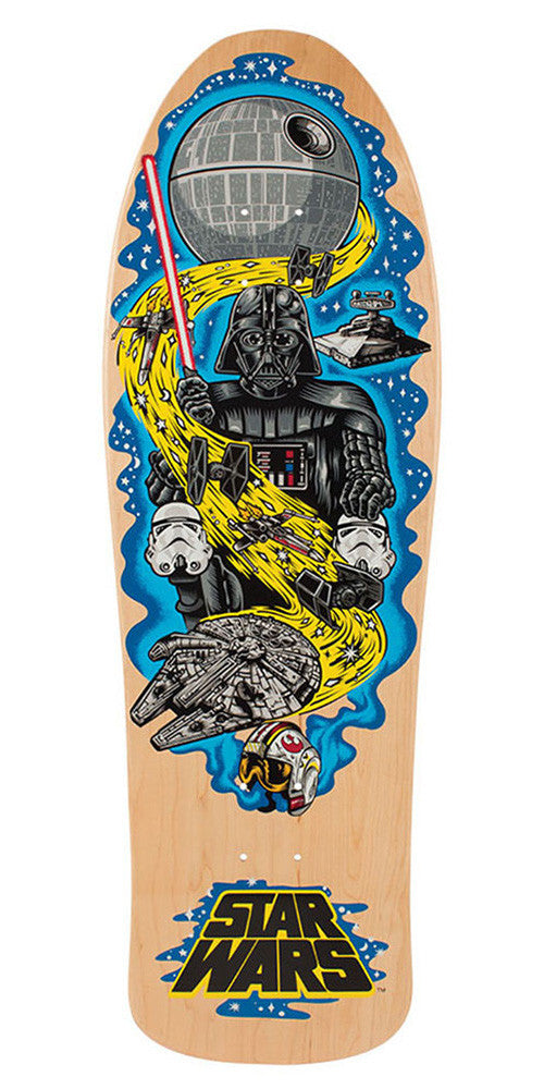 Santa Cruz Star Wars Vader Neptune Skateboard Deck - Natural - 31.59in x 10.14in