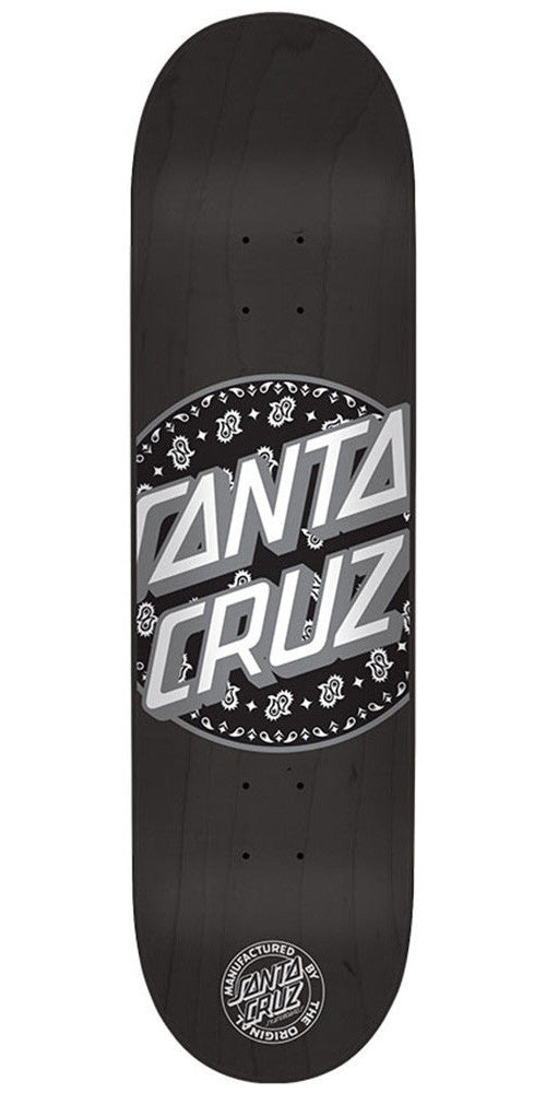 Santa Cruz Paisley Dot Skateboard Deck - Black - 32.0in x 8.375in