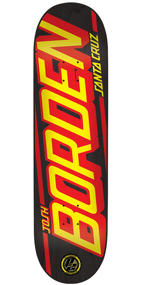 Santa Cruz Borden Strip P2 Skateboard Deck - Black - 32.125in x 8.47in