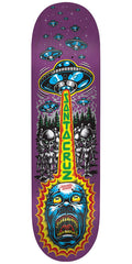 Santa Cruz Abduction Team Skateboard Deck - Purple - 31.7in x 7.8in