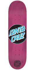 Santa Cruz Classic Dot Team Skateboard Deck - Pink - 31.6in x 8.0in
