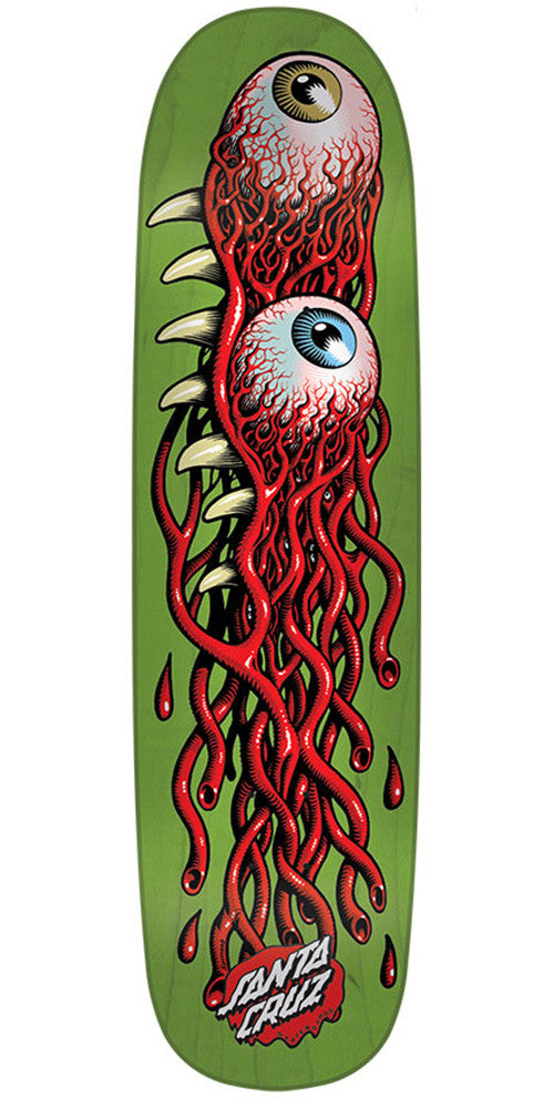 Santa Cruz Eye Pod Team Skateboard Deck - Green - 31.85in x 8.5in