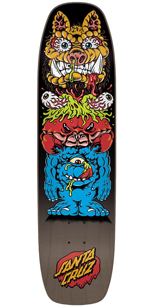 Santa Cruz Gross Totem Team Skateboard Deck - Black - 32.05in x 8.375in