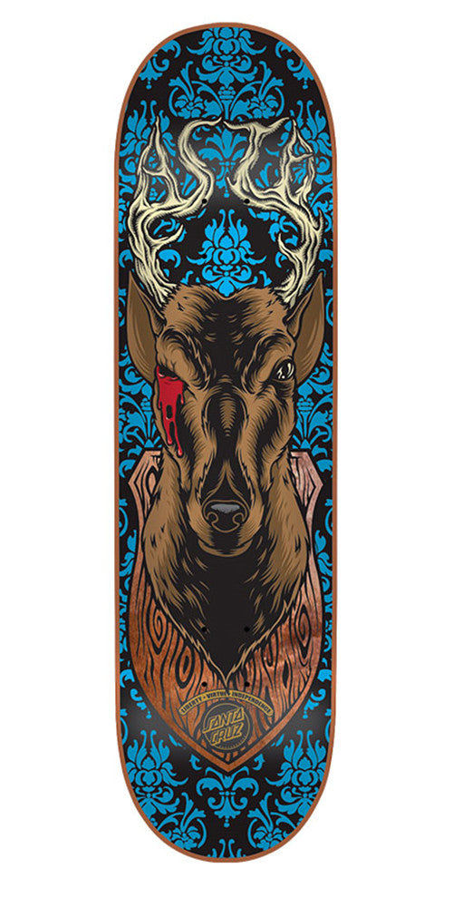 Santa Cruz Asta Lucky Shot Pro Skateboard Deck - Blue - 31.6in x 8.0in