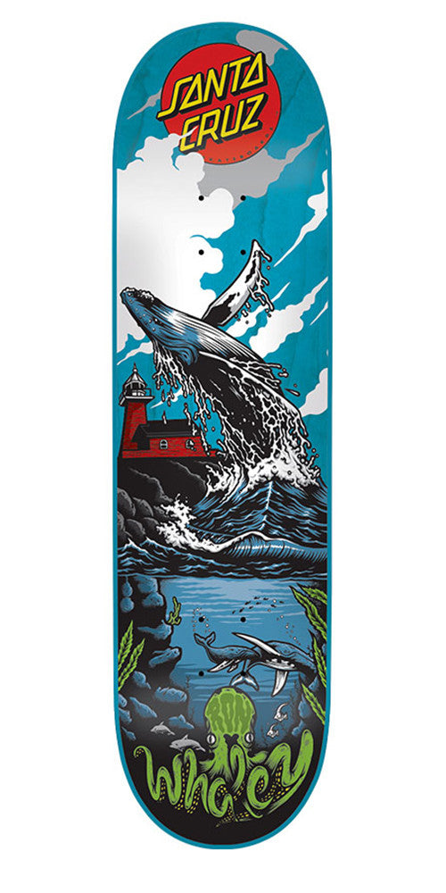 Santa Cruz Whaley Humpback Pro Skateboard Deck - Multi - 31.9in x 8.2in