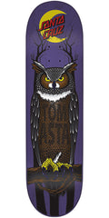 Santa Cruz Asta Owl Pro Skateboard Deck - Purple - 8.0in x 31.6in